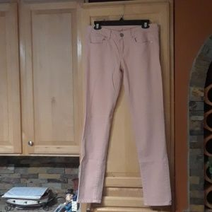 American Eagle Light Pink Stretch Skinny Jeans